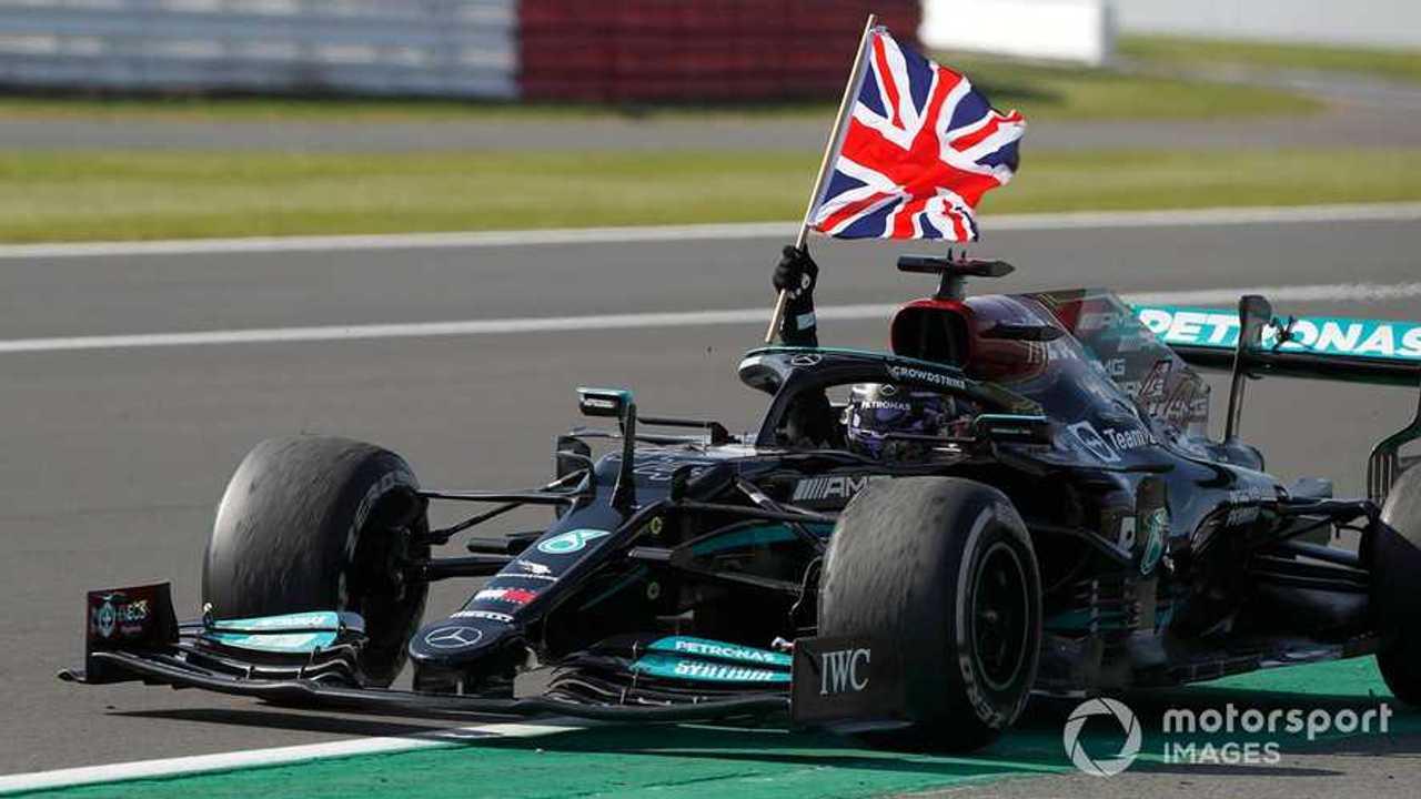 Race winner Lewis Hamilton at British GP 2021