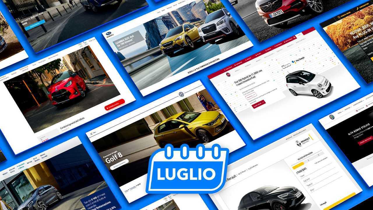 Promozioni auto, tutte le offerte di luglio 2021