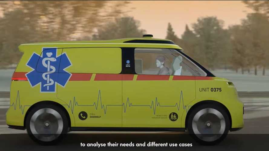 VW ID Buzz autonomous ambulance