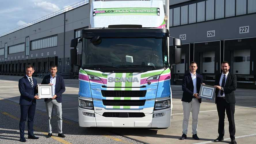 Scania, fornito a Lidl il primo camion elettrico a batterie