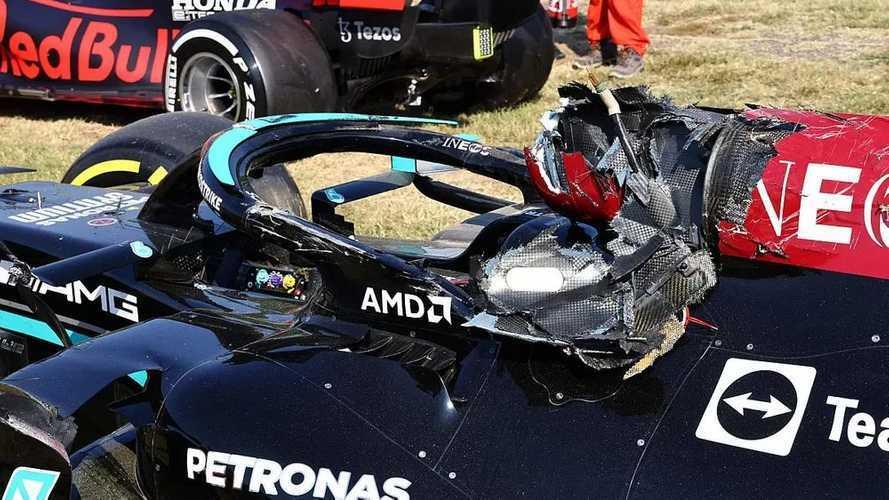 Cómo el Halo, que soporta 12.000 kg, salvó a Hamilton en Monza