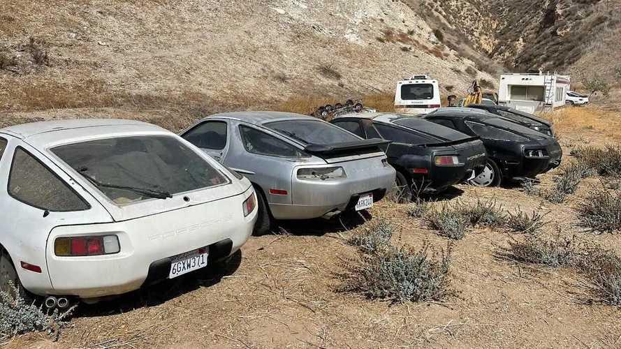 Des Porsche 928 abandonnées