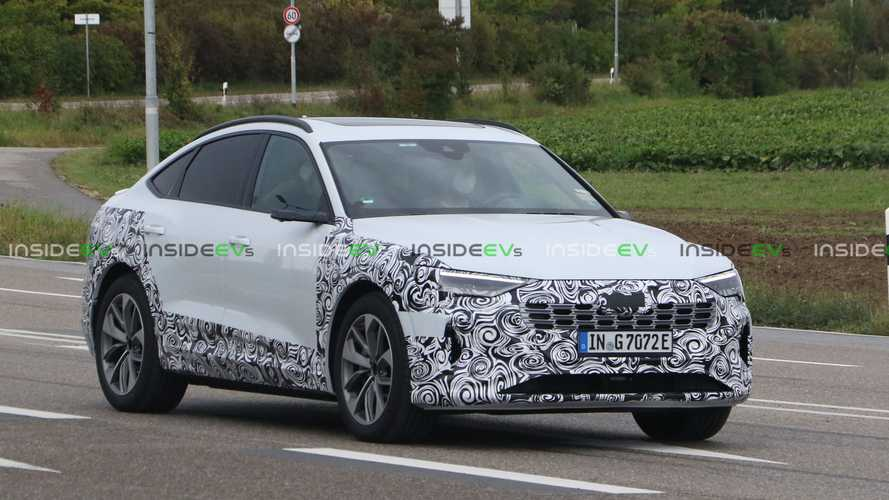 Makyajlı Audi E-Tron Sportback kameralarda