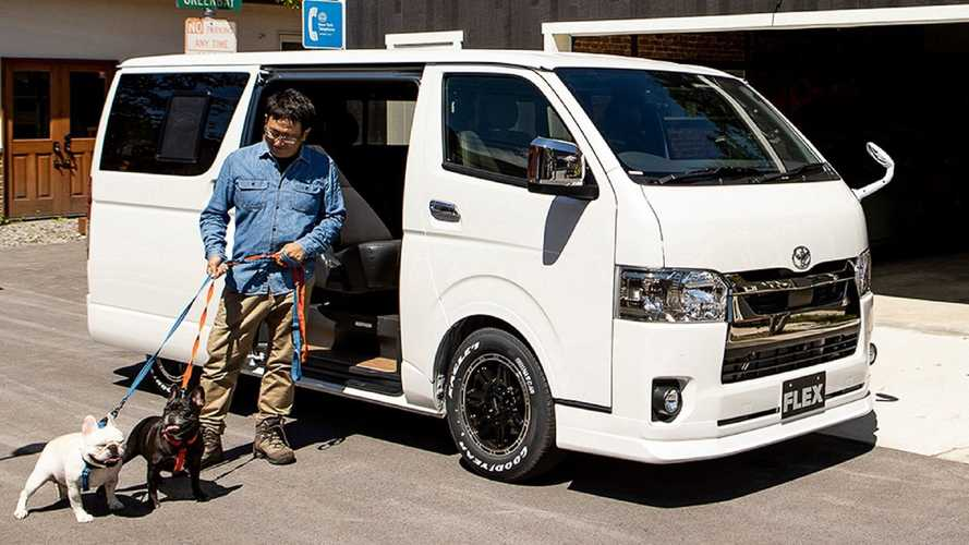 Toyota HiAce Dog Van Has Special Doggy Seat And Custom Bed