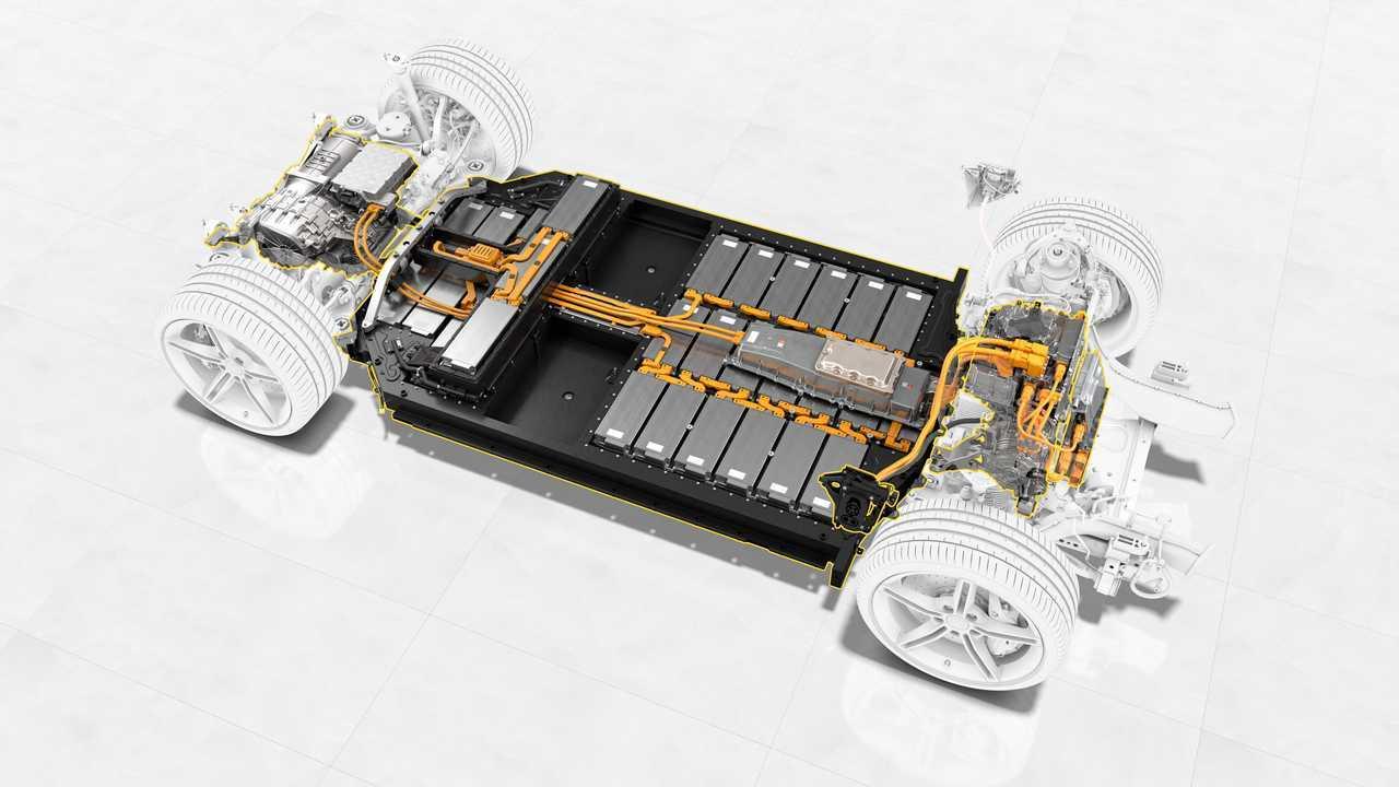 Porsche Taycan battery system
