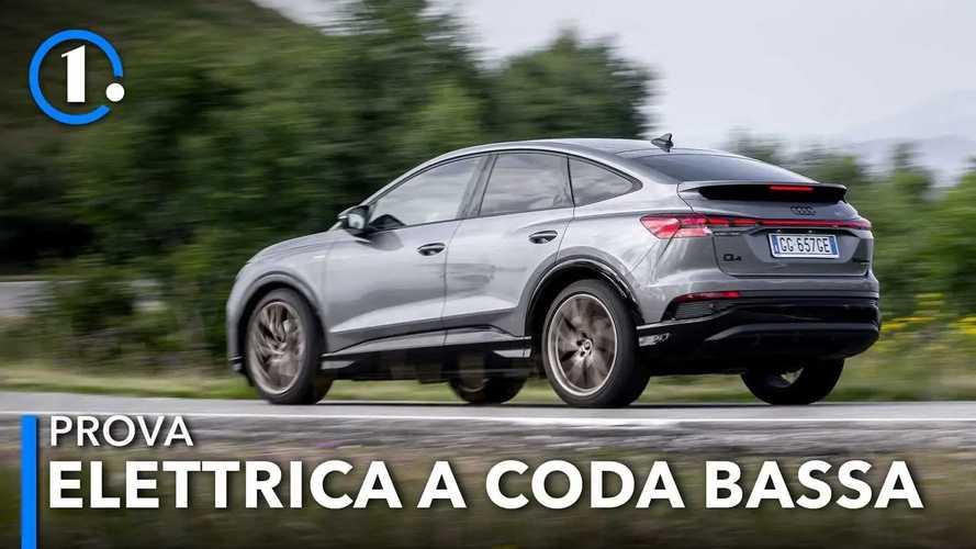 """Audi Q4 e-tron Sportback, la prova del SUV elettrico con la """"coda"""""""