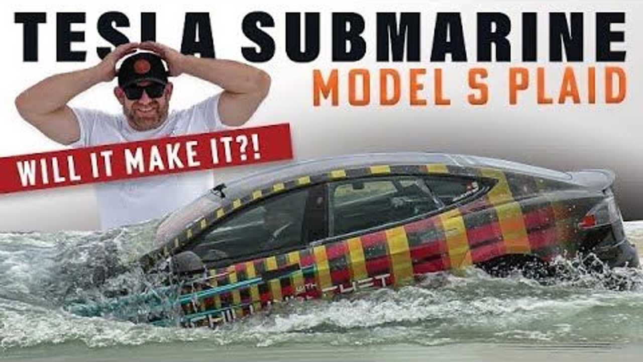 tesla model s plaid submarine