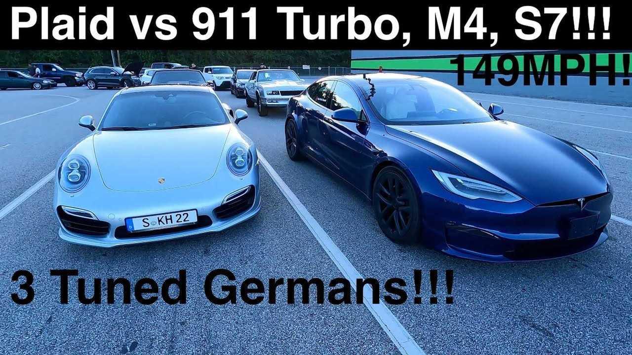 Tesla Model S Plaid vs trio of tuned Germans: Audi, BMW, Porsche