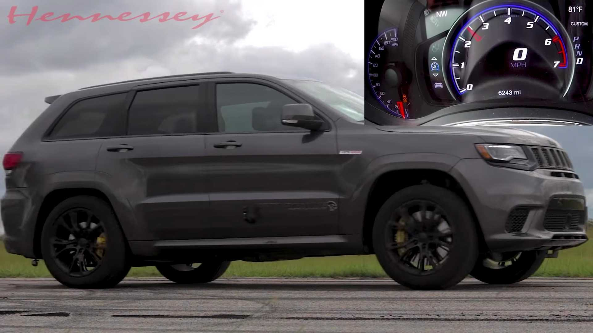 Hennessey's Jeep Trackhawk Puts Its Four-Digit Horsepower To Work