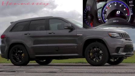 707-HP Jeep Trackhawk Races Hennessey's 850-HP, 1000-HP Versions