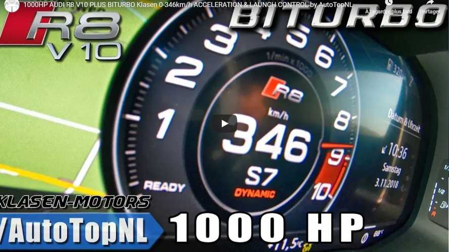 VIDÉO - Cette Audi R8 V10 biturbo de 1000 ch accélère comme une fusée
