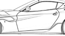Ferrari F12 Spider patent sketches (not confirmed) 08.11.2013