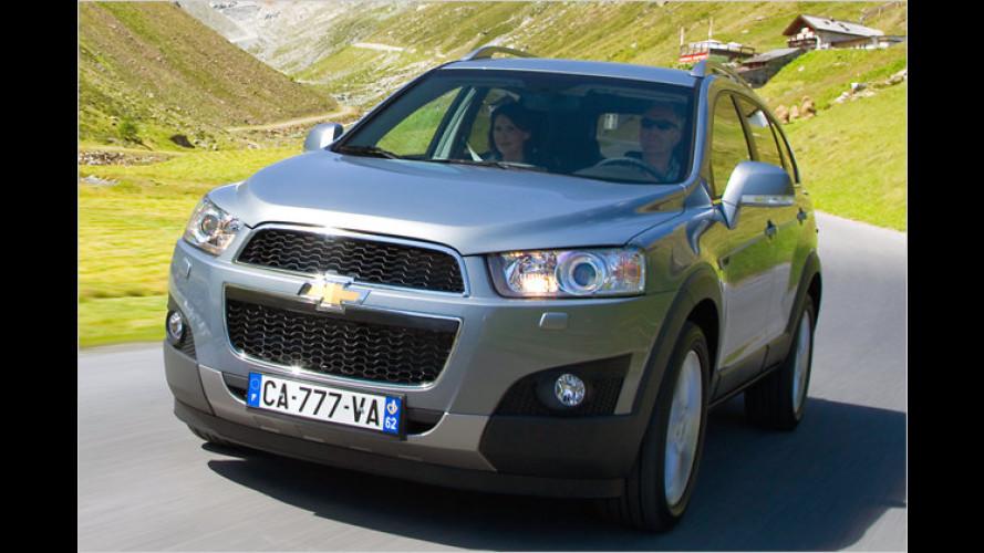 Chevrolet lockt Captiva-Käufer mit Frühbucherrabatten