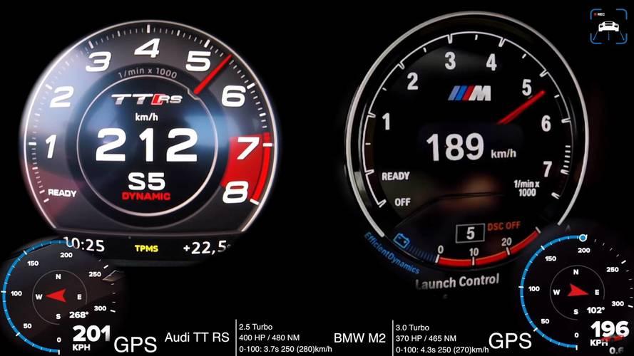Audi TT RS ve BMW M2 kalkış yarışında!
