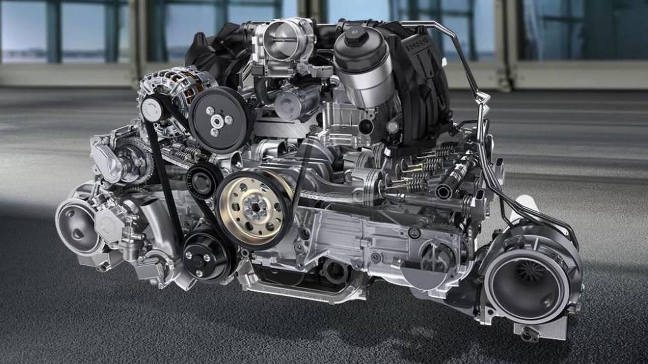 6 cilindros: motor 3.8 bóxer (Porsche)