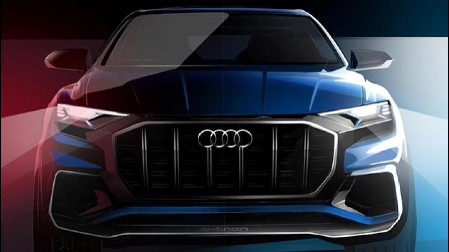 Audi Q8 Concept, prove di SUV coupé per il 2019