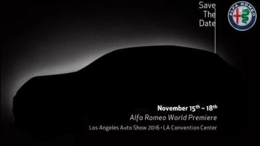 Alfa Romeo Stelvio, primo teaser ufficiale da Los Angeles