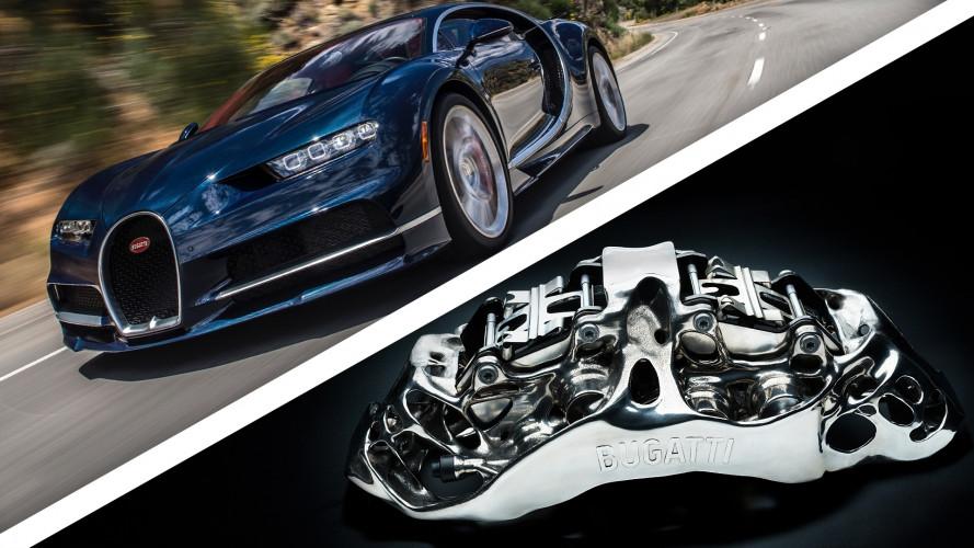 Bugatti Chiron avrà i freni in titanio stampati in 3D