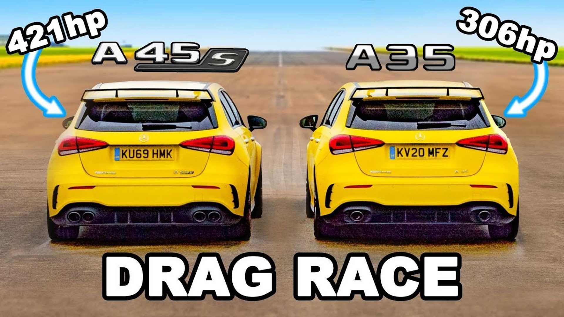 Mercedes-AMG A35 Drag Races A45 S In Hot Versus Hotter Hatchback