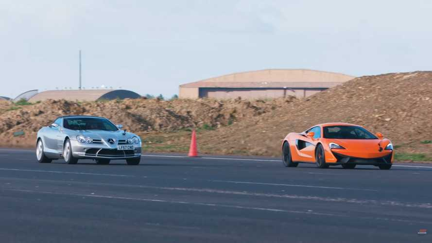Mercedes SLR McLaren comes out of retirement to drag race new 540C