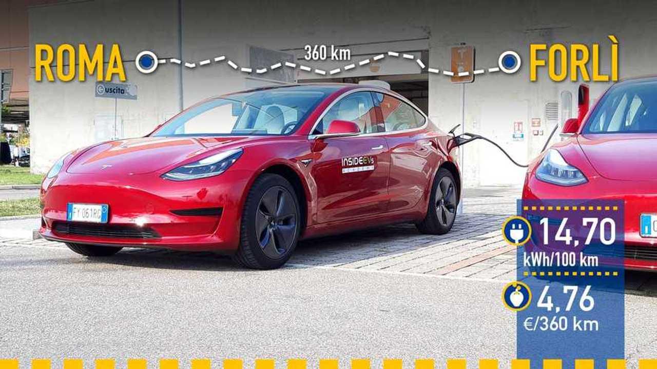 Tesla Model 3 2020, prueba de consumo