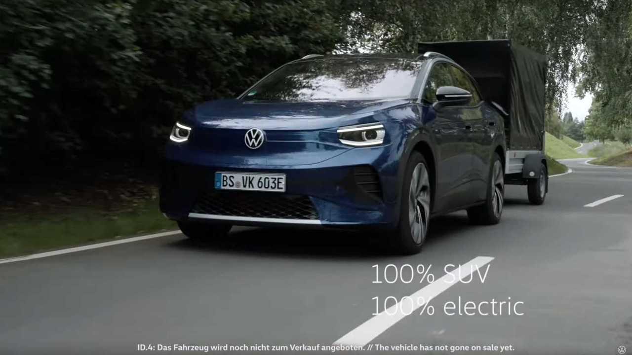Volkswagen ID.4 protótipo camuflado - reboque