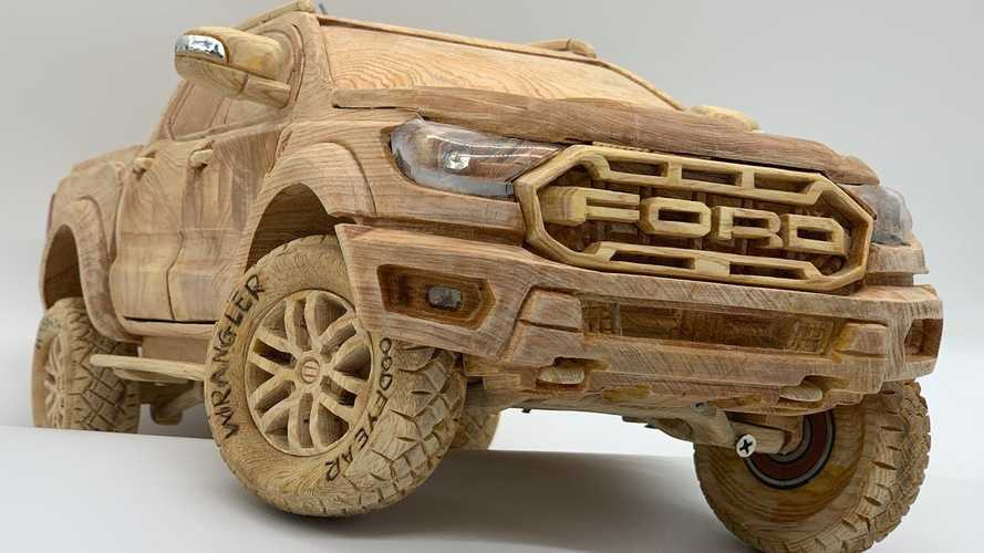 Amazingly Detailed Wooden Ford Ranger Raptor Has A Working Suspension