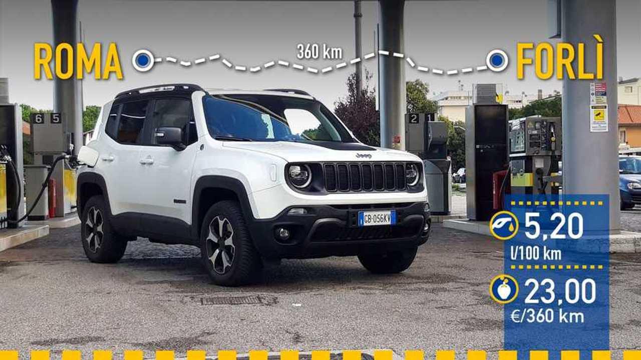Jeep Renegade 4xe 2020, prueba de consumo