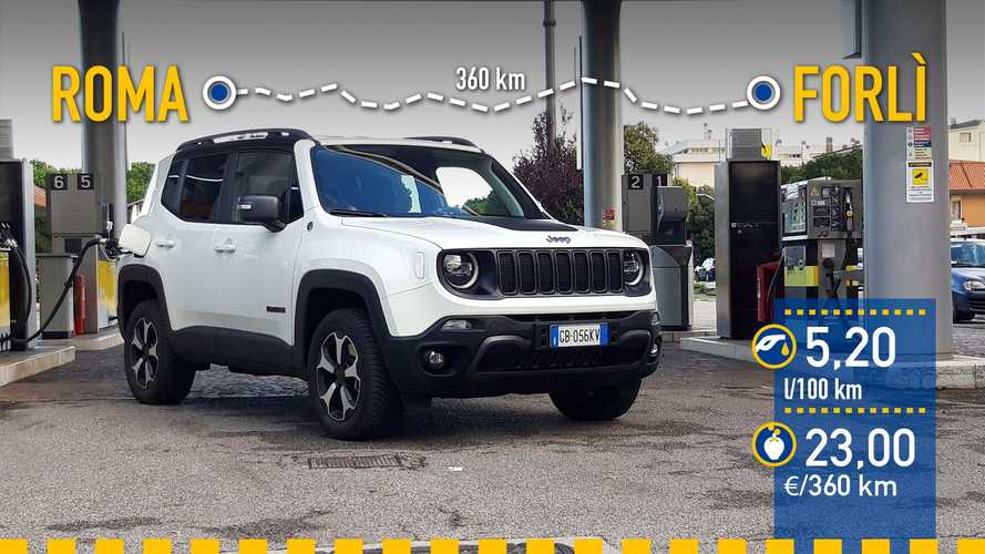 Jeep Renegade 4xe 2020: prueba de consumo real