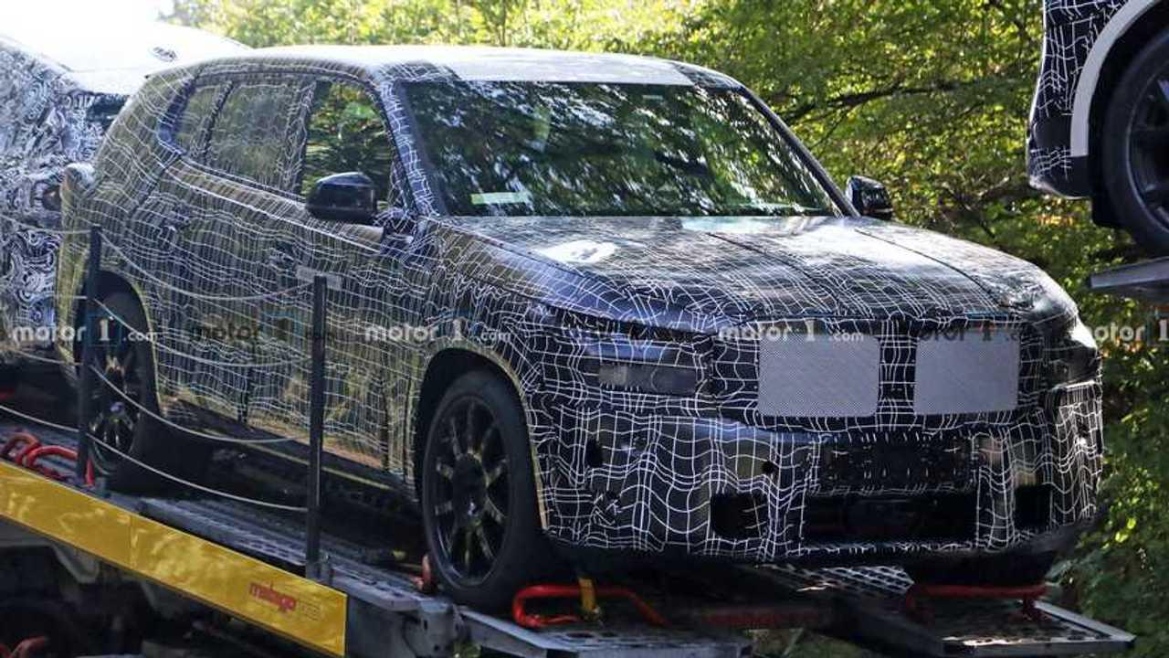 BMW X8 Spy Shots Three Quarters Hauler
