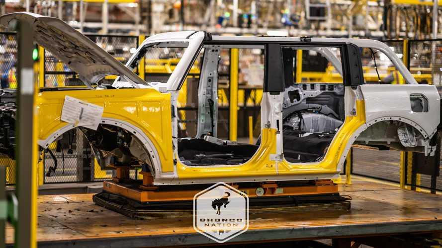 See The First Pre-Production Ford Broncos Rolling Down Assembly Line