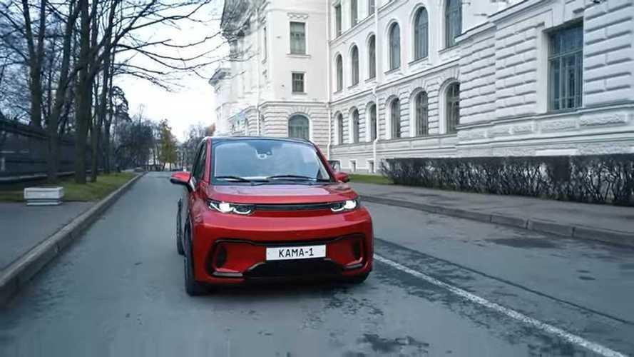Kamaz Kama 1:Russisches Elektroauto mit Display im Lenkrad