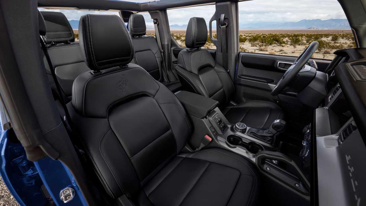2021 Ford Bronco First Edition Black Onyx Interior