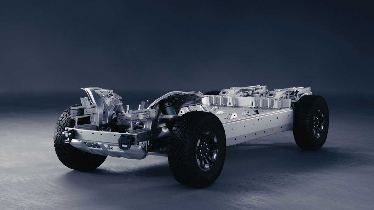 2022 GMC Hummer EV rolling chassis
