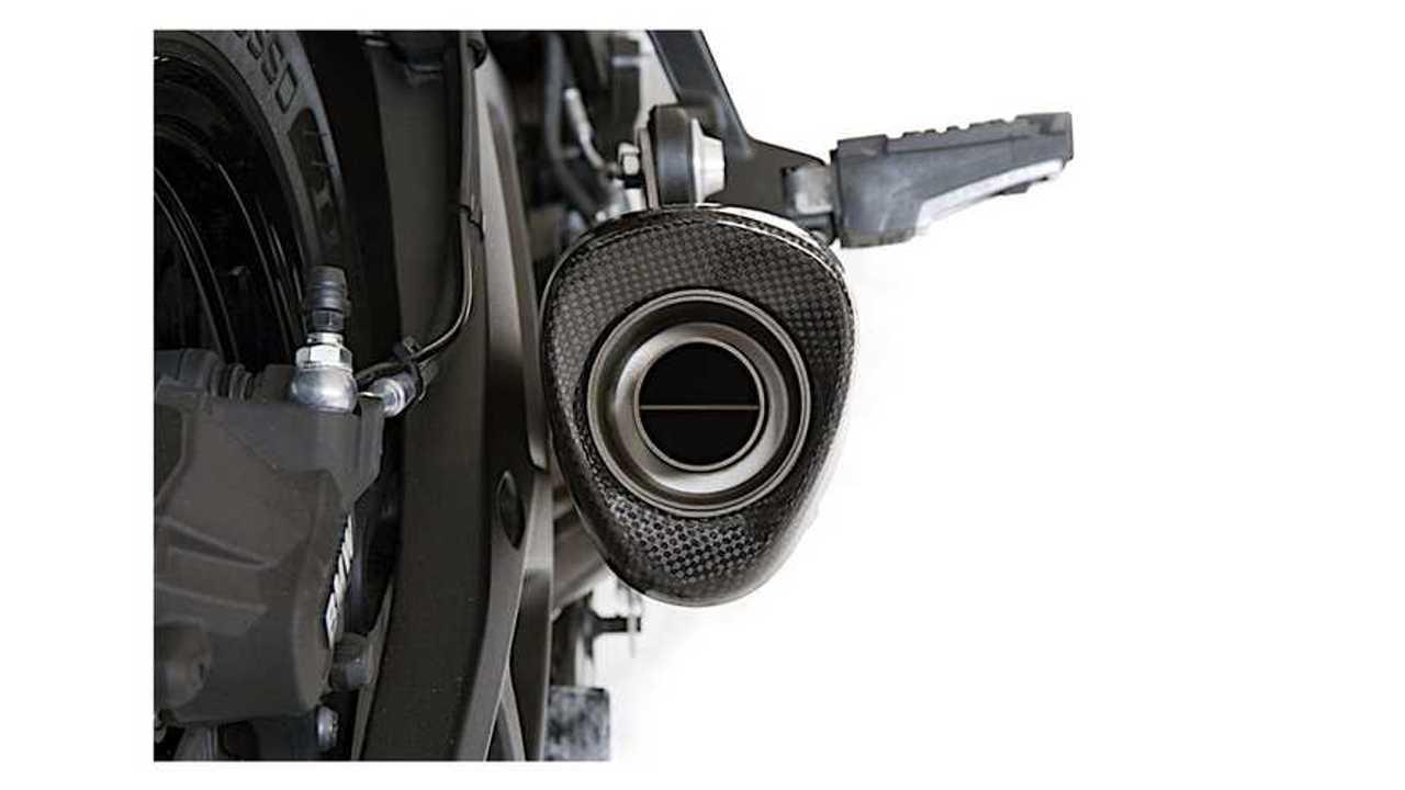 HP Corse Evoxtreme Titanium BMW S 1000 XR Exhaust - Rear Closeup