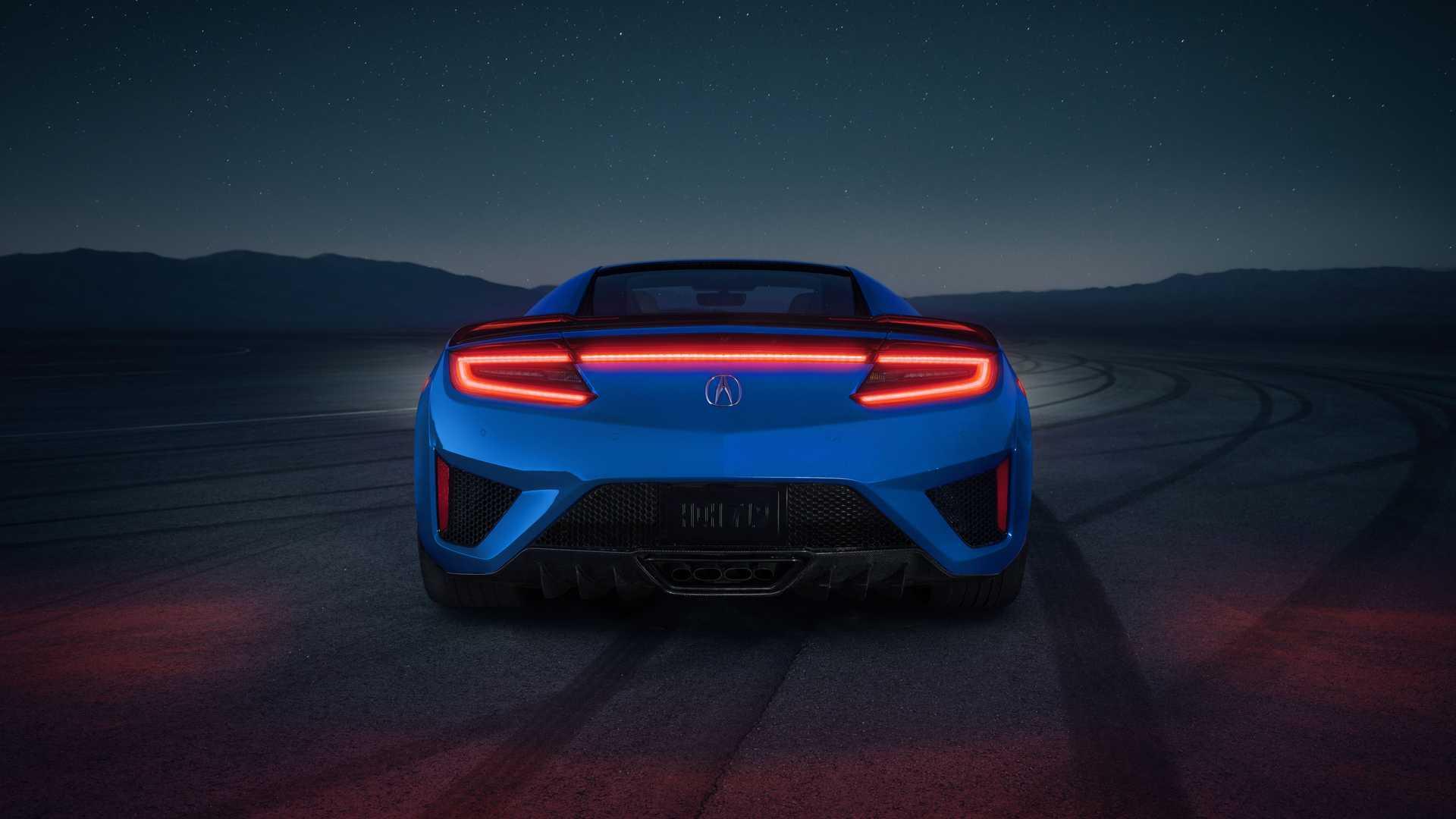 2021 Honda Nsx Looks Retrotastic With Long Beach Blue Pearl Paint