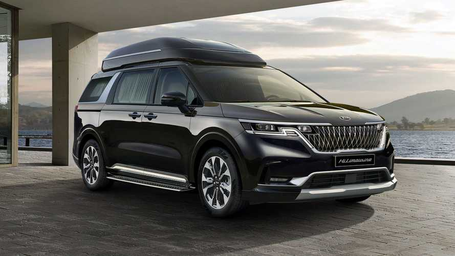2021 Kia Carnival Limo Is A High-End People Mover With A Massive TV
