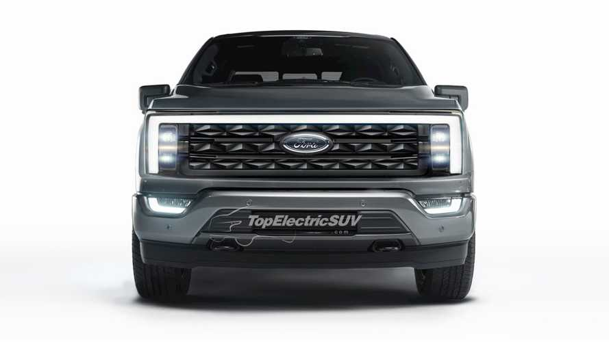 Ford F-150 Electric Pickup Truck Front Fascia Gets Rendered Into View