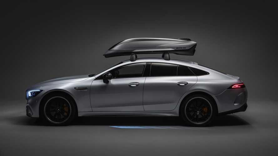 Il box da tetto super aerodinamico è firmato Mercedes-AMG