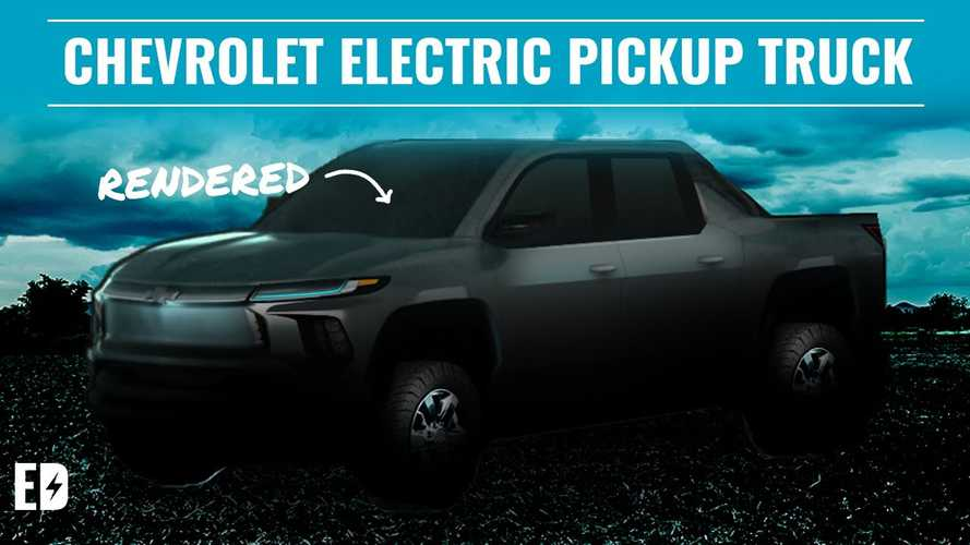 New Electric Pickup Truck From Chevrolet Rendered Into View