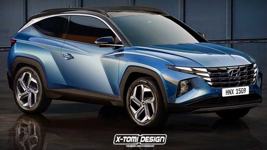 2022 Hyundai Tucson Speculatively Rendered Imagining Three-Door Model