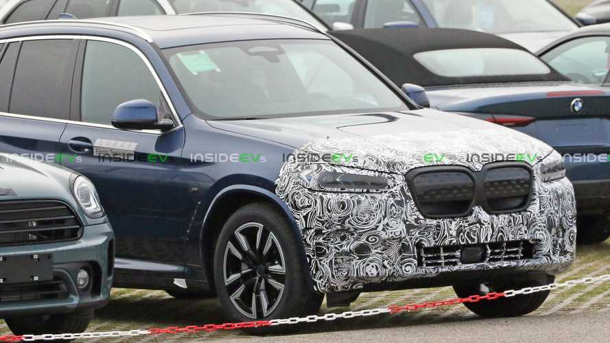 BMW iX3 Facelift Already Spotted Testing With Fascias Covered