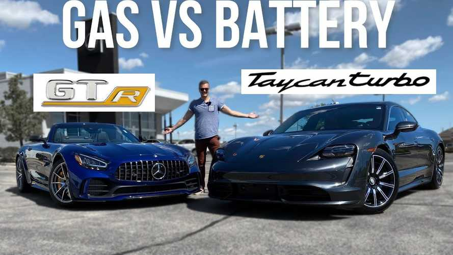 Porsche Taycan Vs Mercedes-AMG GTR: Out With The Old, In With The New