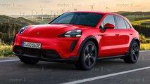 Porsche Macan eléctrico, render exclusivo