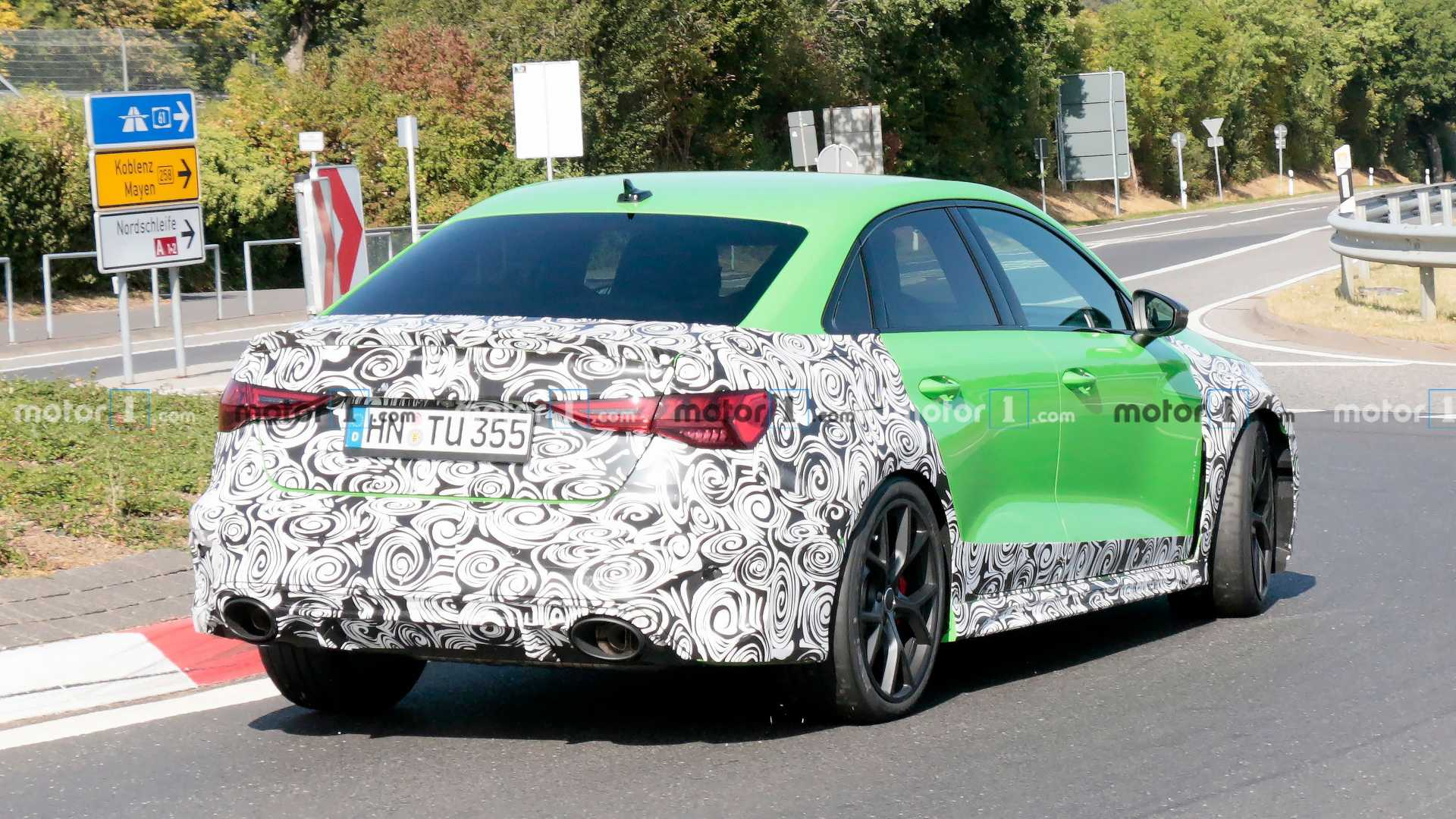 New Audi Rs3 Sedan Spied Going All Out At The Nurburgring