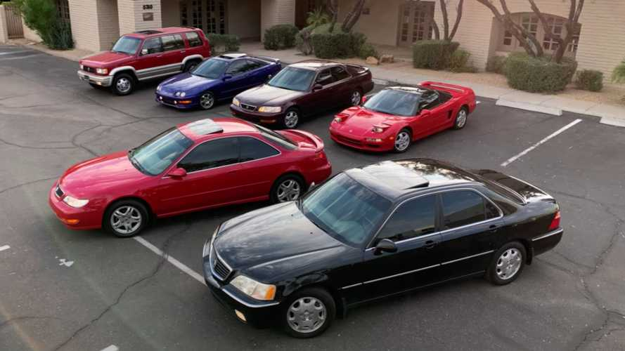 Avid Acura Collector Remakes 1998 Ad With His Six Cars