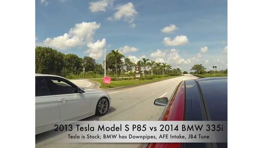 2013 Tesla Model S P85 vs Tuned 2014 BMW 335i