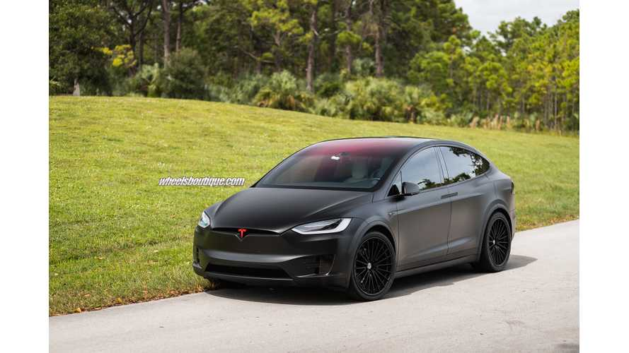 Check Out This Matte Black Tesla Model X With HRE S209 Wheels