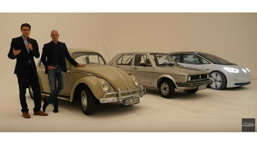 Volkswagen I.D. Design Compared With The Beetle And Golf I - Video
