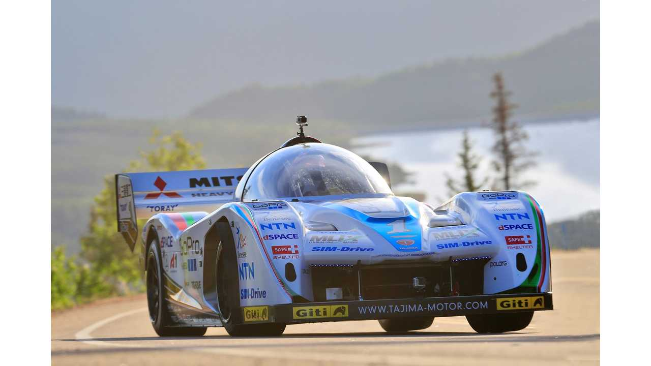 TEAM APEV, SIM-Drive Announce Project To Create EV Faster Than ICE For 2015 Pikes Peak